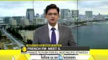 French Foreign Minister Le Drian on a 3-day visit to India