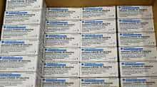 Boxes of the Johnson & Johnson COVID-19 vaccine are seen at the McKesson Corporation, amid the coronavirus disease outbreak, in Shepherdsville, US, March 1, 2021
