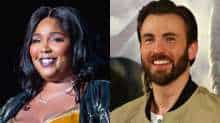 File image of Lizzo and Chris Evans
