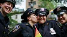 NYPD in LGBT Pride parade