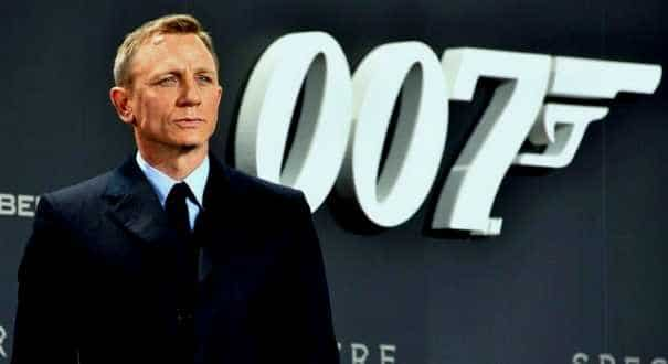 Daniel Craig as James Bond.
