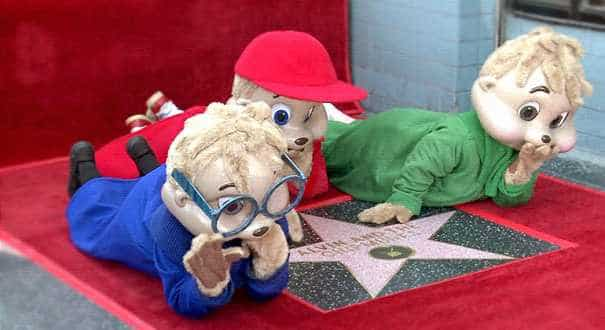 'Alvin and the Chipmunks' get a star on Hollywood's Walk of Fame