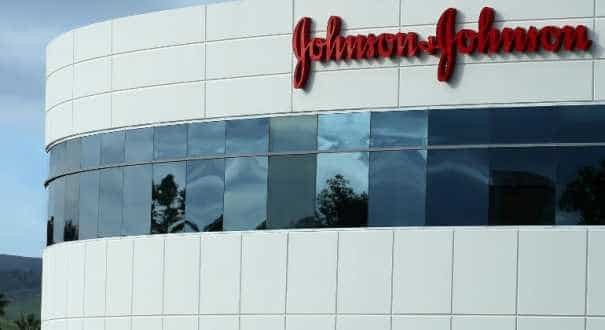 A Johnson & Johnson building is shown in Irvine, California, US.