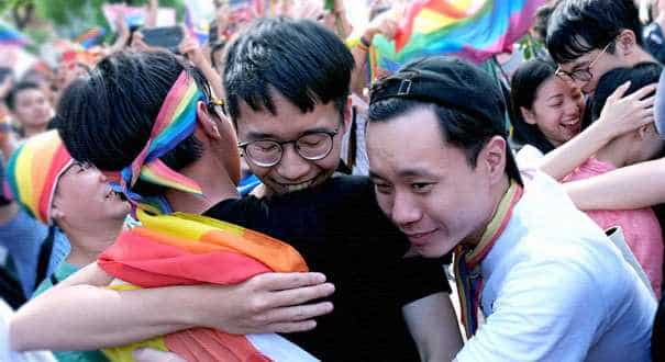 Taiwan's parliament becomes first in Asia to legalize gay marriage