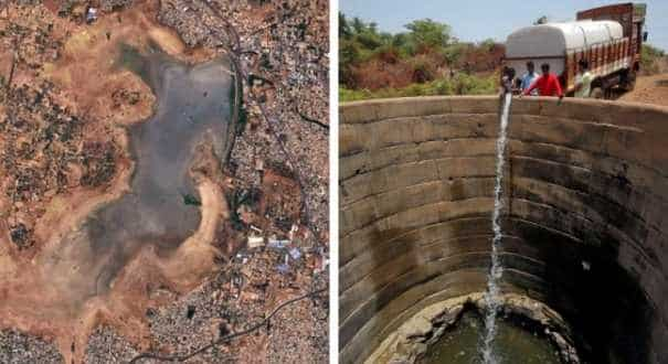 Chennai's reservoirs turned into muddy splats