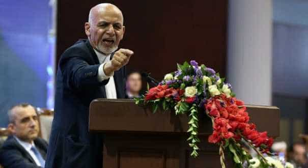 A file photo of Afghanistan President Ashraf Ghani