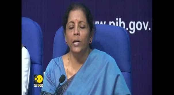 Finance Minister Nirmala Sitharaman addresses media on the Indian economy's state