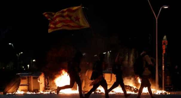 Catalan separatists protest