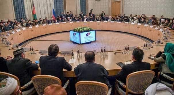 Taliban team at Afghan peace talks