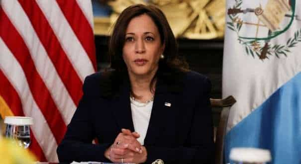File photo of US Vice President Kamala Harris