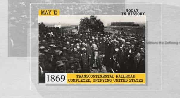 Transcontinental railroad in US