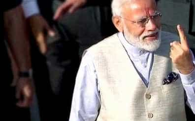 Lok Sabha Election 2019: PM Modi casts his vote in Ahmedabad, urges people to vote in huge as well