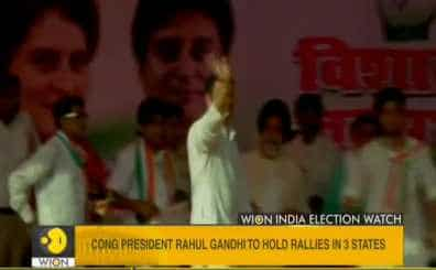 Congress president Rahul Gandhi holds rallies in 3 states ahead of the Lok Sabha poll