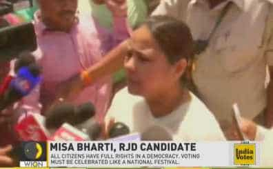 RJD Candidate Misa Bharti request women voters to come out and vote in huge numbers