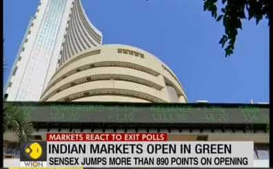 Indian market react to Exit-Polls; Sensex jumps more than 890 points on opening