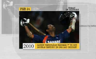Sachin Tendulkar becomes 1st to hit double century in One Day Cricket