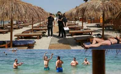 In the middle of the COVID-19 pandemic's second wave, Greece reopens its beaches