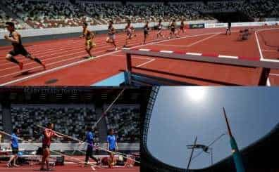 Tokyo 2020: Olympic Stadium holds track and field test event without fans