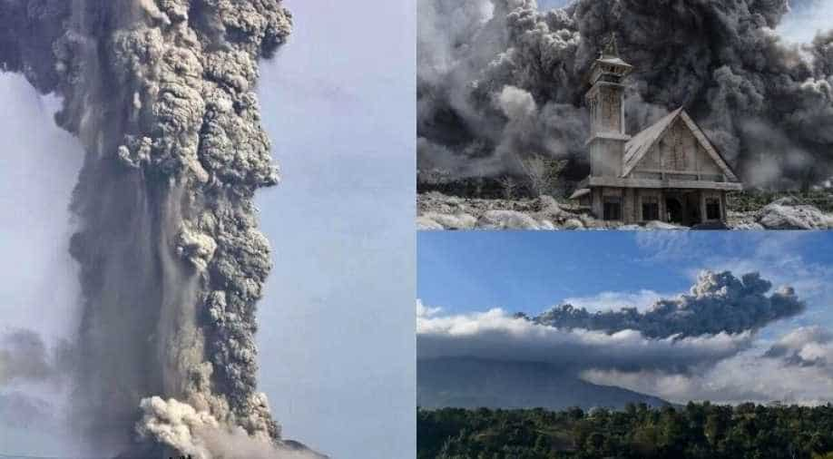 Indonesia's Mt. Sinabung erupts spewing smoke and ash into sky