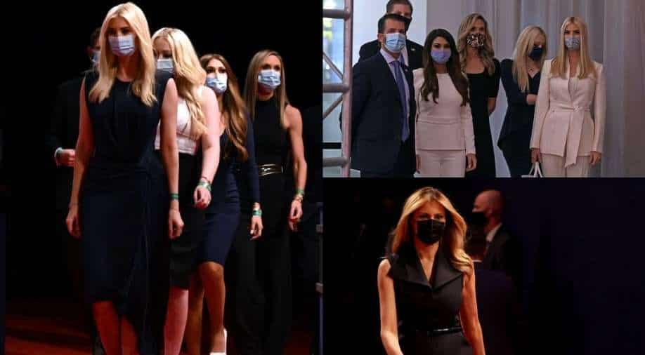 Trump family finally wears facemasks at the last presidential debate