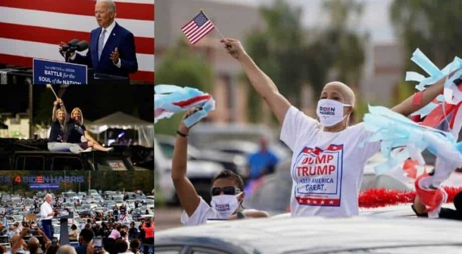 "Joe Biden's ""drive-in"" election rally"