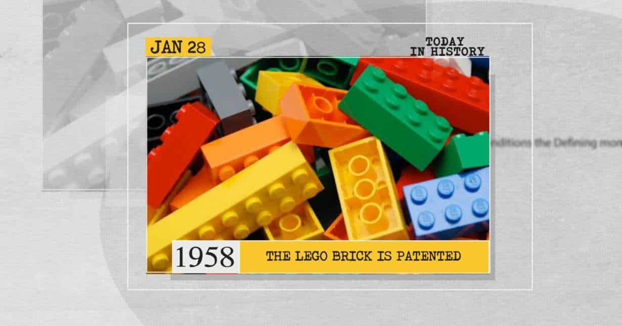 The Lego brick is patented
