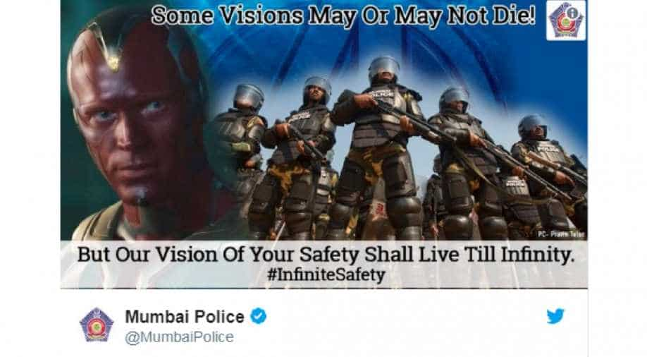 Mumbai Police's 'Avengers: Infinity War' tweet upsets Twitterati, users  write 'don't give spoilers'