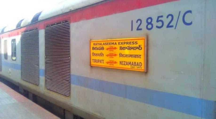 Express train derails in Telangana