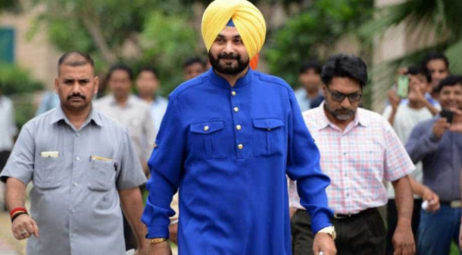 Image result for Navjot Sidhu's resignation, the chief minister sent the governor file