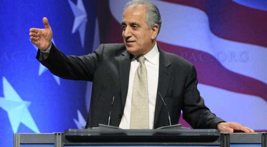 US envoy Khalilzad in Taliban talks seeks peace deal before