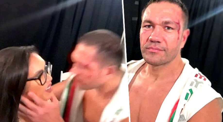 boxer pulev kisses reporter during interview  sports news