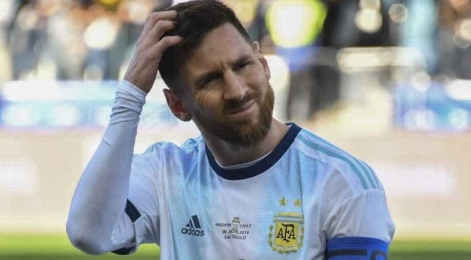 Argentina S Lionel Messi Receives Second Red Card Of His Career Sports News Wionews Com