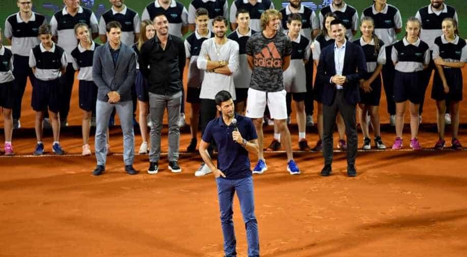 Novak Djokovic Breaks Down In Tears After Hosting Belgrade Charity Exhibition Sports News Wionews Com