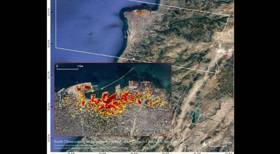 NASA maps Beirut blast damage through satellite images - WION