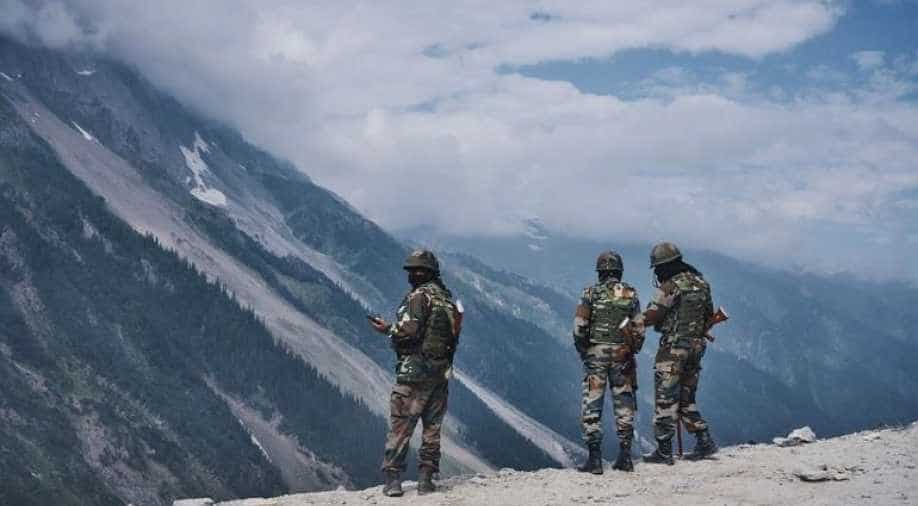 India-China standoff: Indian soldiers near Pangong Tso Lake in Ladakh