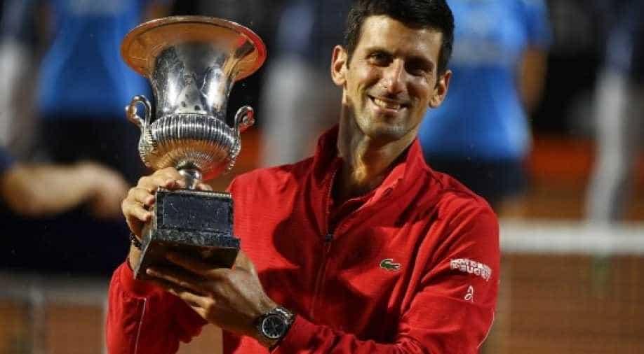 Djokovic Wins Fifth Italian Open To Make Masters History Sports News Wionews Com